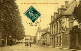 CPA  42 ROANNE Rue Des Promeneurs 1904 - Roanne