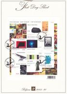 B01-223 A4 2005-020 3439 3448 Bloc 124   Art Artistes L'Art En Belgique First Day Sheet FDS 10-10-2005  This Is Belg - 2001-10