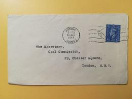 1945 BUSTA GRAN BRETAGNA GREAT BRITAIN BOLLO RE GIORGIO KING GEORGE VI OBLITERE' WOKING - Covers & Documents