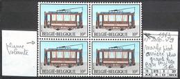 [856130]TB//**/Mnh-Belgique 1983 - N° 2080-V9, Marche Pied Arrière Plus Grand + Bd4, Tramways, Trains, Transports - Abarten (Katalog Luppi)