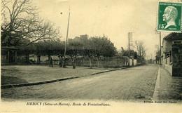 CPA  77 HERICY Route De Fontainebleau - Altri Comuni