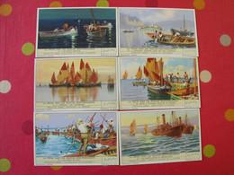 6 Images Chromo Liebig. Chromos. Séries S 1404. La Pêche Chez Les Peuples Méditerranéens. 1939. - Altri