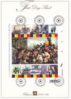 B01-223 A4 2005-006bis 3357 3366 Bloc 119   Historique Belgique 175 Ans First Day Sheet FDS 28-2-2005 175 Jaar 17 - 2001-10