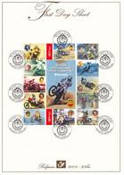 B01-223 A4 2004-023bis 3324 3345 Bloc 117   Sport Motocross Belgian International Sport Champions First Day Sheet - 2001-10