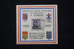 LUXEMBOURG - Bloc Souvenir De La Journée Du Timbre En 1939 - L 79803 - Covers & Documents