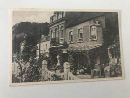Carte Postale Ancienne  MARCHE-LES-DAMES Le Vieil Et Familial HOTEL RESTAURANT DE LA GARE  (timbre : 90c) - Namur