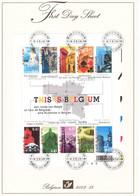 B01-223 A4 2003-013 3184 3193 Bloc 104   Tourisme Villes Historiques Artistes First Day Sheet FDS 7-7-2003  This Is - 2001-10