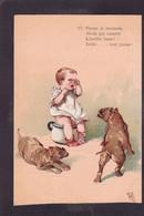 CPA Pot De Chambre Scatologie Enfant Gaufré Embossed Non Circulé Chien Dog - Humorkaarten