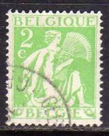 BELGIQUE BELGIE BELGIO BELGIUM 1932 GLEANER GLEANEUR 2c USATO USED OBLITERE' - Sin Clasificación