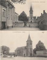 LA CELETTE ECOLE ET EGLISE ANIMEES 1917 RARES - Other Municipalities