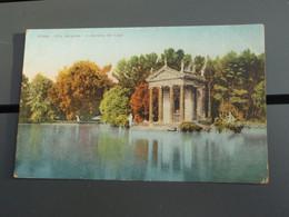 Cpa Couleur ROMA Villa Borghese  Giardino Del Lago. Tampon Mission Militaire FrançaiseI Talie Rome - Other Monuments & Buildings