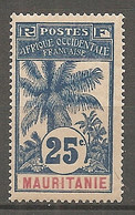 MAUR - Yt. N° 7  *  25c  Palmier  Cote  9  Euro  BE   2 Scans - Unused Stamps