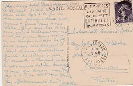 N°2208 Z -oblitération Daguin -Plombières Les Bains Guérit Entérite Et Rhumatismes- - Annullamenti Meccanici (pubblicitari)