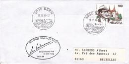 B01-224 Enveloppe Fdc 2579 Suisse - Georges Simenon 1903-1989 - écrivain 1.75€ - Ohne Zuordnung