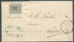 N°17 - 10 Centimes Gris Obl. LP.46 Sur Lettre De BOOM Le 22 Janvier 1868 Vers Lierre. -Superbe- 16541 - 1865-1866 Profil Gauche