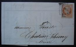 Paris 1858 Loignon & Cie Lettre Affranchie Avec Un 40 Centimes Avec Variation De Couleur (oxydation Partielle) - 1849-1876: Classic Period
