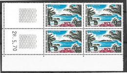 Bloc De 4 Coin Daté 28.5.70 Du 1,00 Guadeloupe Neuf Sans Charnière, N° Yvert 1646 - 1970-1979