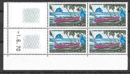 Bloc De 4 Coin Daté -1.6.70 Du 0,50 Martinique Neuf Sans Charnière, N° Yvert 1644 - 1970-1979