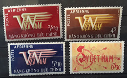 VIETNAM 1952 - 1953 Poste Aérienne Airmail ,4  Timbres Entre Yvert No 1,2,3,9, Neuf * MH  TTB - Vietnam
