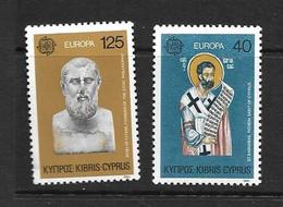 CHYPRE 1980 EUROPA  YVERT N°515/16  NEUF MNH** - Nuevos