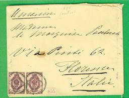 RUSSIA IMPERO - ANNO 1898 LETTERA  ITALIA FIRENZE - Covers & Documents