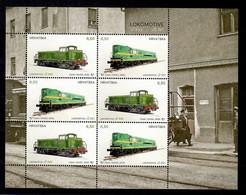CROATIA 2020,TRAIN,LOCOMOTIVE,SHEET,MNH - Trains