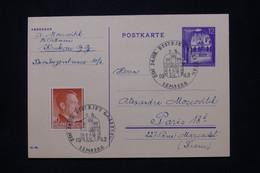 POLOGNE / ALLEMAGNE - Entier Postal + Complément De Lemberg Pour Paris En 1942, Oblitération Temporaire - L 79850 - Generalregierung