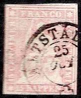 Schweiz Suisse 1857: II.Periode Faden Blau Fil Bleu 15 RAPPEN Rosa Zu 24D Mi 15IIByp O ALTSTÄDTEN 25 OCT ?(Zu CHF 90.00) - Gebraucht