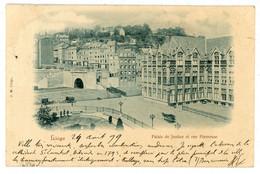 Liege (Lüttich) Palais De Justice - Ak 1899 Nach Frankreich - Ohne Zuordnung