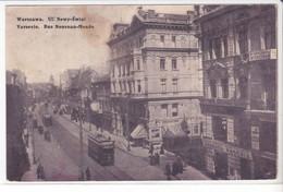 CPA Old Pc Pologne Varsovie Rue Nouveau Monde - Polonia