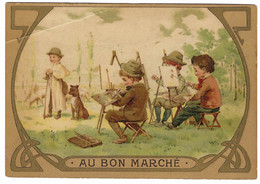 Carte PUB - AU BON MARCHÉ - PEINTRES - PEINTURE - ARTS - Publicidad