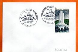 15 ST FLOUR  MONT MOUCHET LA RESISTANCE     ( Timbre Concordant ) Lettre Entière N° RS 947 - Matasellos Conmemorativos
