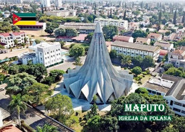 Mozambique Maputo Polana Church Aerial View New Postcard Mosambik AK - Mozambique