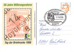 BR DEUTSCHLAN - POSTKARTE 100PF 1998 HOYERSWERDA TAG DER BRIEFMARKE /GA16 - Privatpostkarten - Gebraucht