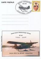 92077- AN-2 PLANE IN MIRNY- ANTARCTICA, POLAR FLIGHTS, SPECIAL POSTCARD, 2006, ROMANIA - Polare Flüge