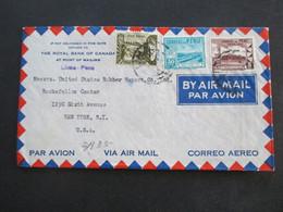 Peru 1941 Air Mail The Royal Bank Of Canada At Point Of Mailing Lima Peru - Rockefeller Center New York - Peru