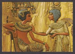 114515/ CAIRO EGYPTIAN MUSEUM, Tutankhamun Treasure, Scene On The Back Panel Of The Kings Throne - Museen