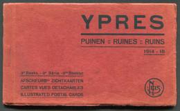 YPRES - CARNET DE 10 CARTES POSTALES - RUINES 1914-18 - Ieper