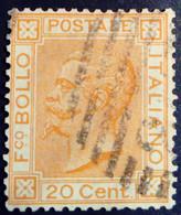 Italie Italy Italia 1867 Victor Emmanuel II Yvert 24 O Used Usato - Usados