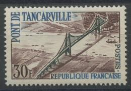 France (1959) N 1215b (Luxe) Inscirption Bleu Clair - Ungebraucht