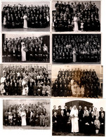 Lot De 8 Carte Photo Originale Mariage Et Mariés En Famille - Groupe Familial 1930/40/50/60. - Personas Anónimos