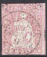 Schweiz Suisse 1858: III.Periode Faden Grün Fil Vert 15 RAPPEN Zu 24G Mi 15IIBym Yv 28 O LAUSANNE 26 AOUT (Zu CHF 75.00) - Gebraucht