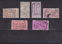 BELGIQUE 1923-41 : Y/T CHEMIN DE FER N° 227 236 237 246 251 259 OBLIT. - 1923-1941