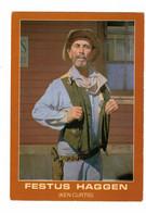FESTUS HAGGEN (KEN CURTIS), Original Painting By Frances Beaugureau, Nat. Cowboy Hall Of Fame, Older 4x6 Chrome Postcard - Künstler