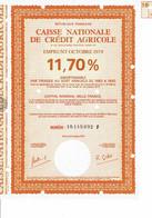 75-CAISSE NATIONALE DE CREDIT AGRICOLE.  1979  11,7 %    Lot De 3 - Other
