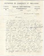 FACTURE / LETTRE Entreprise De Charpente Louis DUCHENE à SAINT GENIS POUILLY - Andere