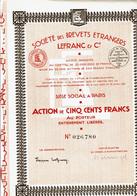 75-LEFRANC & CIE. STE DES BREVETS ETRANGERS ...  Lot De 3 - Other