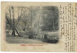 Belgique - CHIMAY - 2 CP - Le Pont Et La Cascade, Théâtre Du Château - Chimay