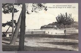 83 Cavalaire Sur Mer, Lot De 2 Cartes : Vue Sur La Plage Et La Jetée / Les Baigneurs Et La Jetée (6888) - Cavalaire-sur-Mer