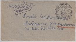 Franz. Zone - Ihringen 1947 Gebühr Bezahlt Brief N. FRANKREICH 1947 - Unclassified